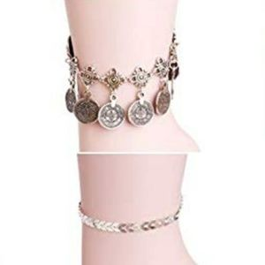 2 New Bling Women's Ankle Bracelet Jewelry Set